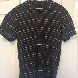 Oakley polo shirt large L grey red
